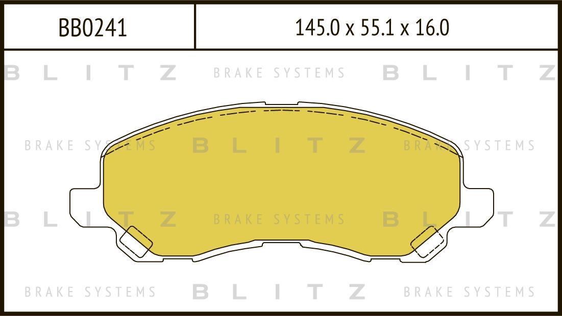 Колодки тормозные дисковые BLITZ автотовары BB0241BB0241