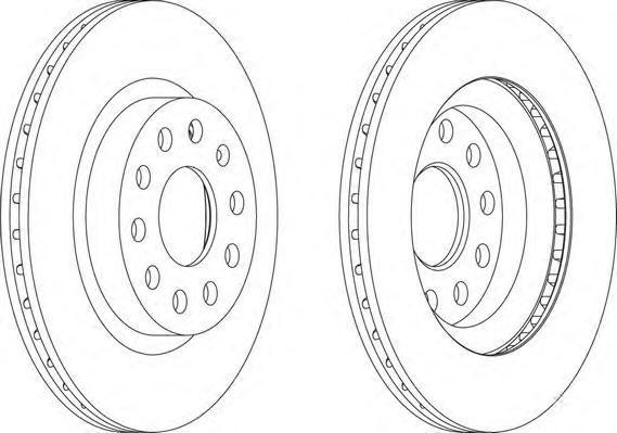 Диск тормозной задний/передний Ferodo DDF1223 комплект 2 штDDF1223