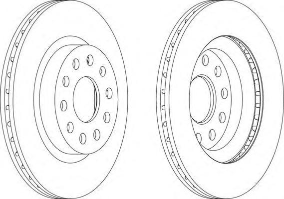 Диск тормозной задний/передний Ferodo DDF1223DDF1223
