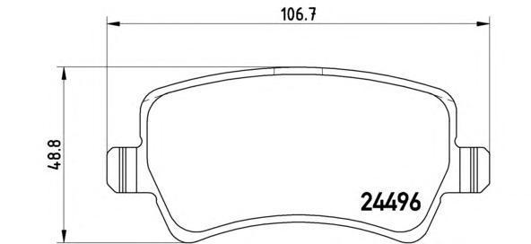 Тормозные колодки дисковые Brembo. P24078P24078Колодки тормозные задние Brembo Ford Galaxy 06-/S-Max 06. P24078