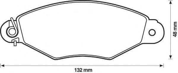Колодки тормозные передние Jurid 571931J571931J