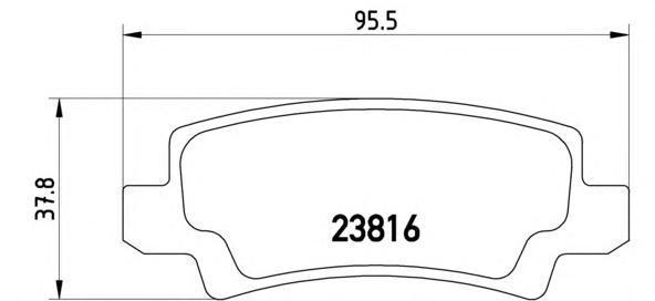 Колодки тормозные задние Brembo P83065P83065
