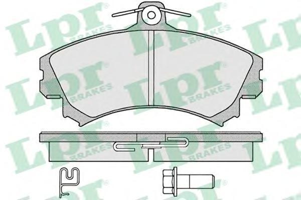 LPR / AP Колодки тормозные передние с датчиком. 05P122105P1221