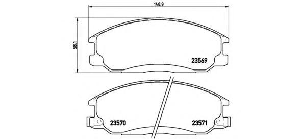 Колодки тормозные передние Brembo P30013P30013