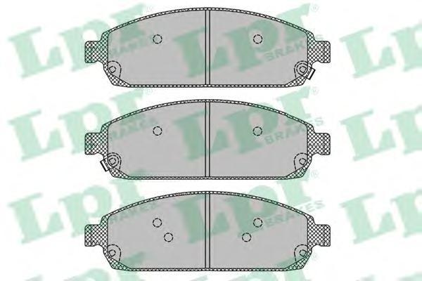 Колодки тормозные передние LPR / AP 05P140305P1403