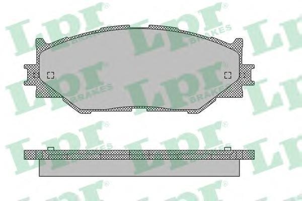 Колодки тормозные передние LPR / AP 05P141205P1412