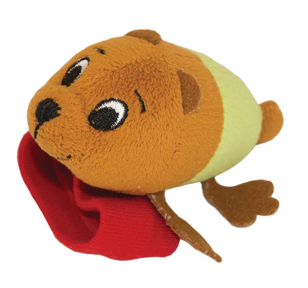 Happy Snail Игрушка-погремушка на руку Медвежонок Берни игрушка погремушка мякиши медвежонок колечко