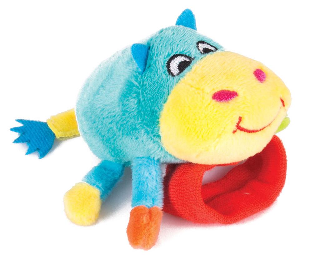 Happy Snail Игрушка-погремушка на руку Бегемот Бубба мягкая игрушка happy snail погремушка на руку бегемот бубба