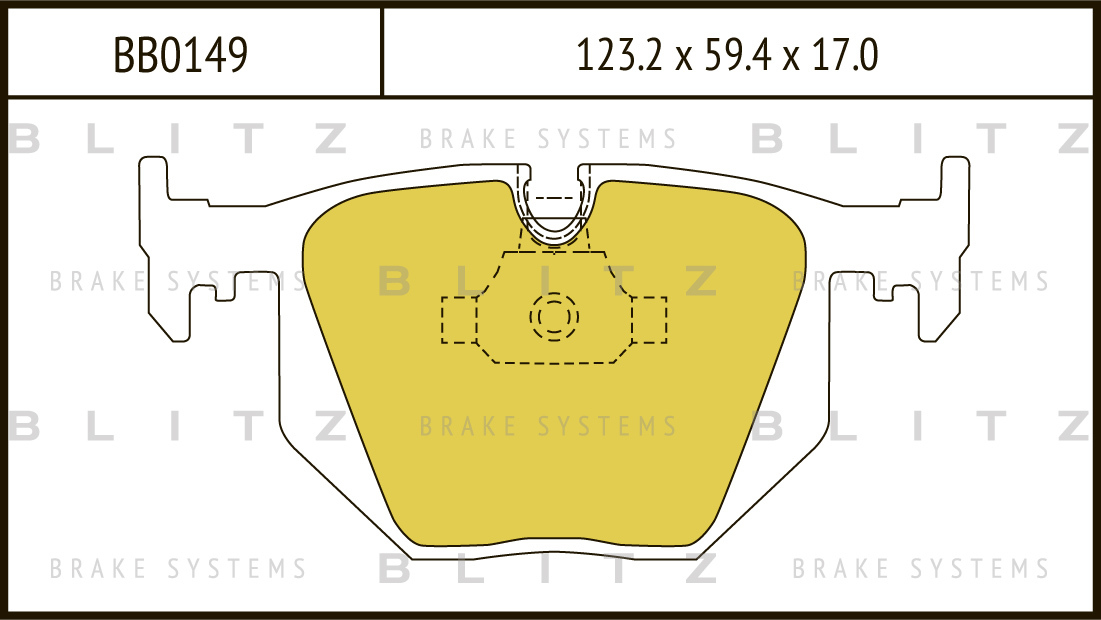 Колодки тормозные дисковые BLITZ автотовары BB0149BB0149