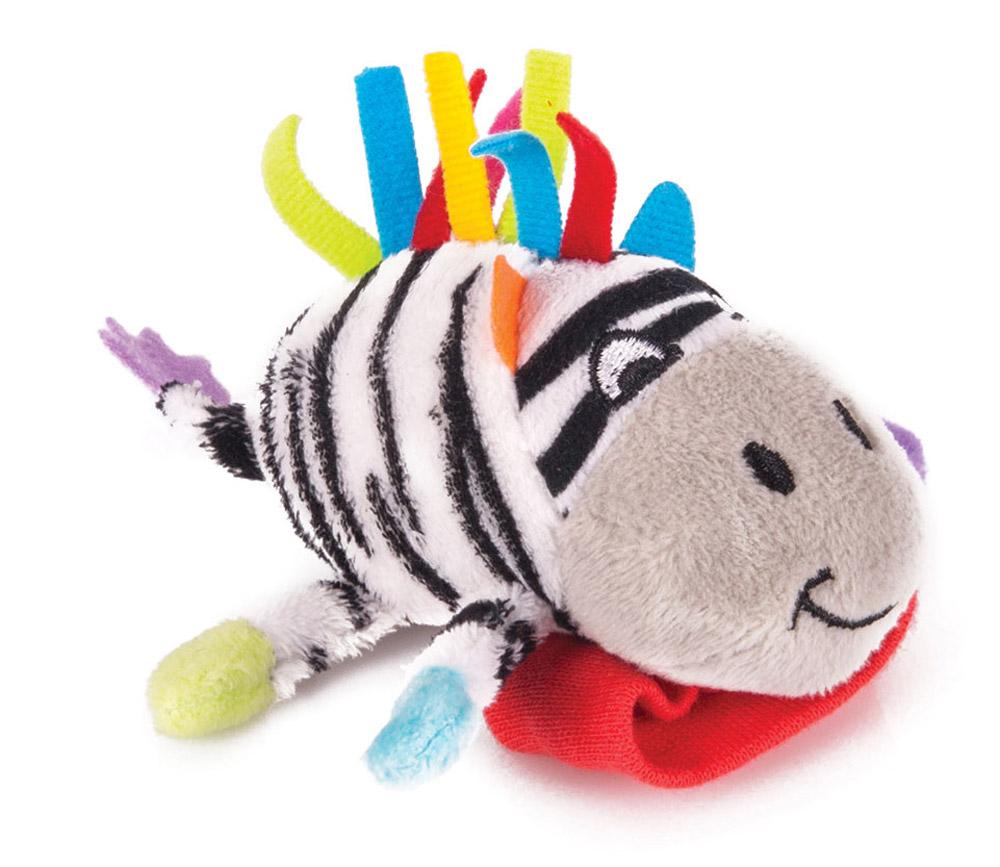 Happy Snail Игрушка-погремушка на руку Зебра Фру-Фру мягкая игрушка happy snail погремушка на руку бегемот бубба
