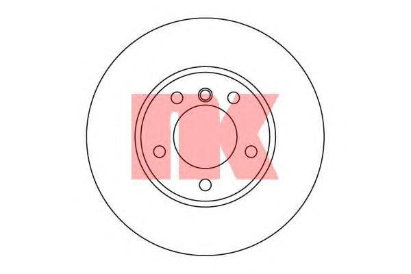 Диск тормозной NK 201536 комплект 2 шт201536