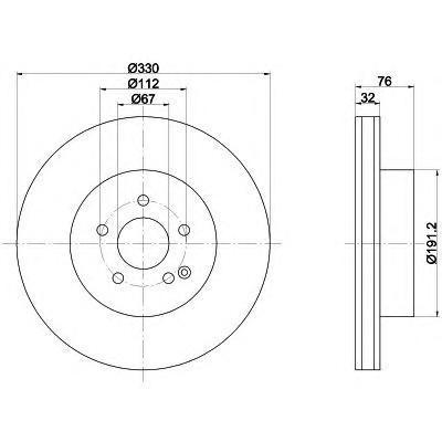 Диск тормозной Pro BEHR-HELLA 8DD3551068518DD355106851