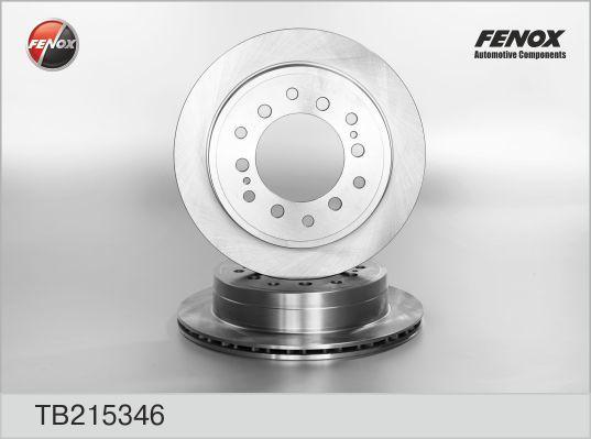 Диск тормозной Fenox TB215346TB215346
