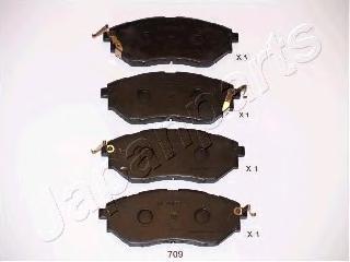 Колодки тормозные дисковые Japanparts PA709AFPA709AF