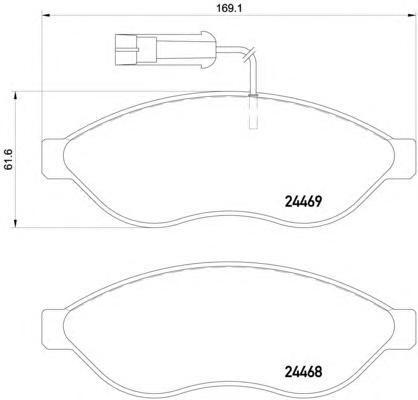 Колодки тормозные дисковые, комплект BEHR-HELLA 8DB3550206618DB355020661
