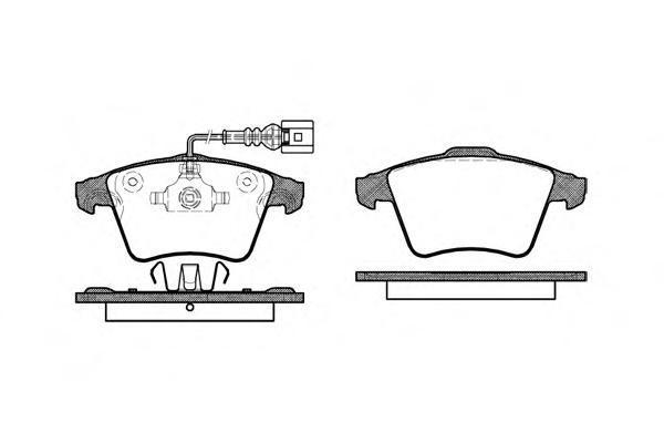 Колодки тормозные дисковые Remsa, комплект. 104522104522