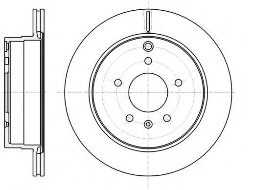 Диск тормозной задний [303x20] 5 отв Remsa 6118210 комплект 2 шт6118210