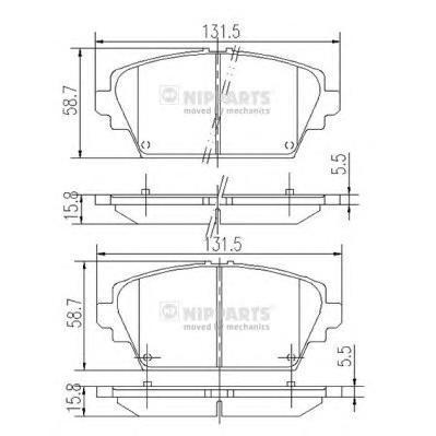Колодки тормозные передние Nipparts J3601072J3601072