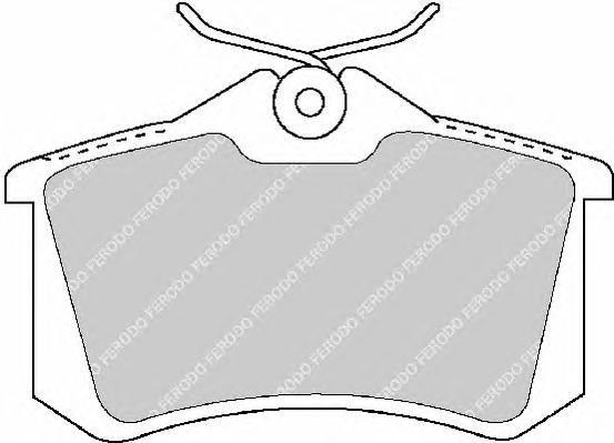 Колодки тормозные дисковые Premier Ferodo FDB1491FDB1491