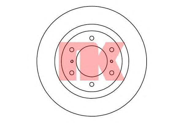 Диск тормозной NK 203055 комплект 2 шт203055