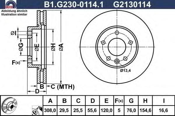 Диск тормозной Galfer B1G23001141B1G23001141