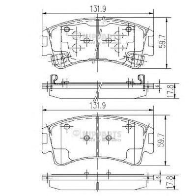Колодки тормозные передние Nipparts J3603056J3603056