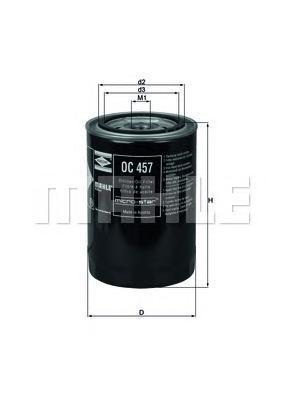 Фильтр масляный Mahle/Knecht OC457OC457
