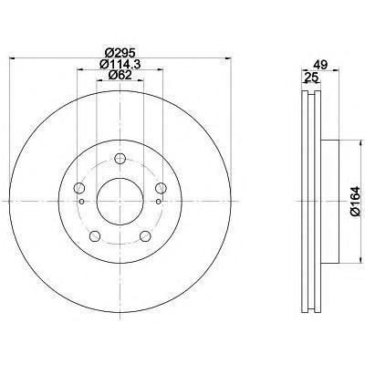 Диск тормозной BEHR-HELLA 8DD355113621 комплект 2 шт8DD355113621