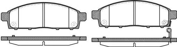Колодки тормозные дисковые Remsa, комплект. 124201124201