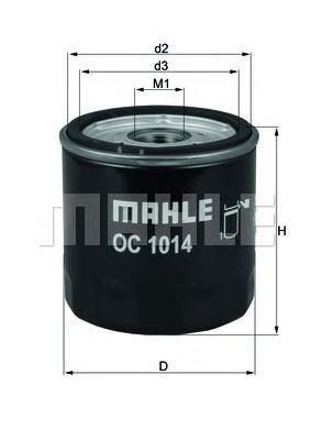 Фильтр масляный Mahle/Knecht. OC1014OC1014