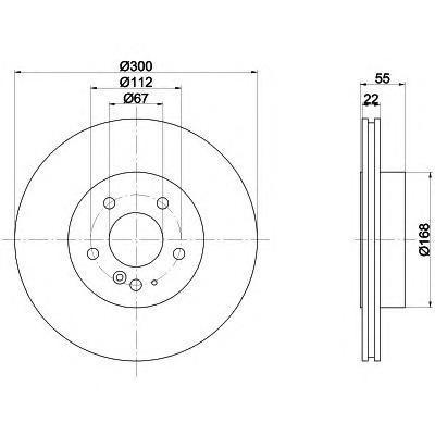 Диск тормозной MB W140 задний вентилируемый Textar 92056800 комплект 2 шт92056800