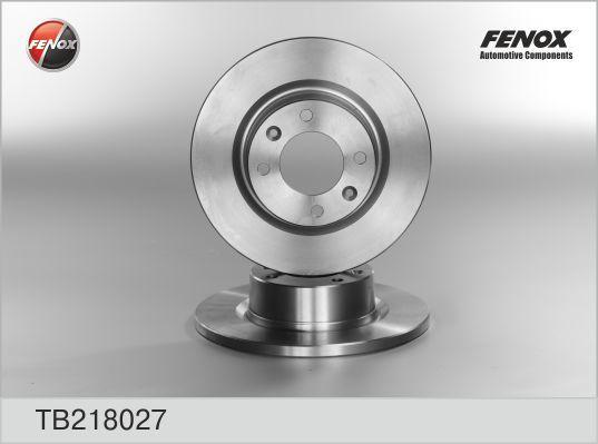 Диск тормозной Fenox TB218027TB218027