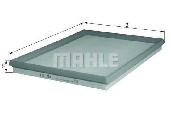 Фильтр воздушный Mahle/Knecht LX390LX390