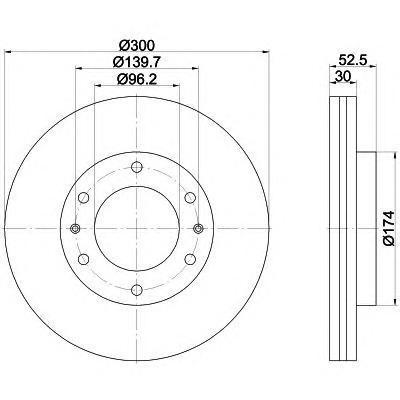Диск тормозной передний вентилируемый Textar 9220380092203800
