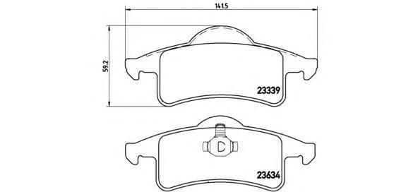 Колодки тормозные задние Brembo P37006P37006