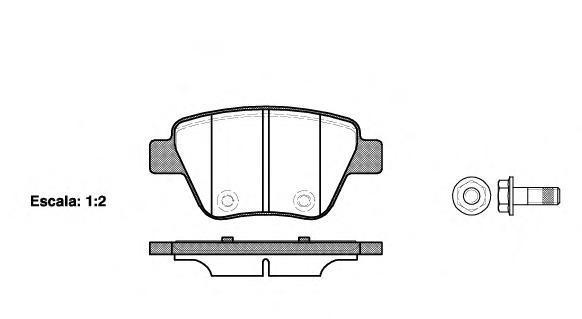 Колодки тормозные дисковые Remsa, комплект. 142000142000