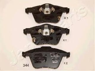 Колодки тормозные дисковые Japanparts PA344AFPA344AF