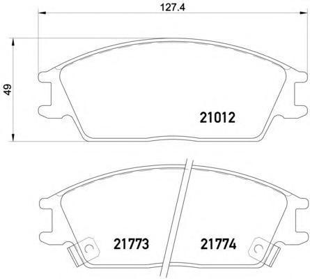 Колодки тормозные дисковые, 4 шт Textar 21012022101202