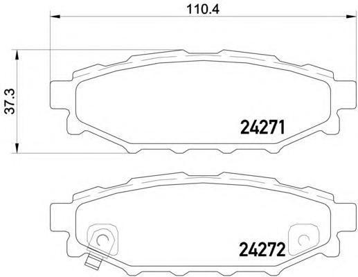 Колодки тормозные задние с датчиком Textar 24271012427101