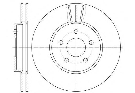 Диск тормозной передний вентилируемый Road House 660710 комплект 2 шт660710
