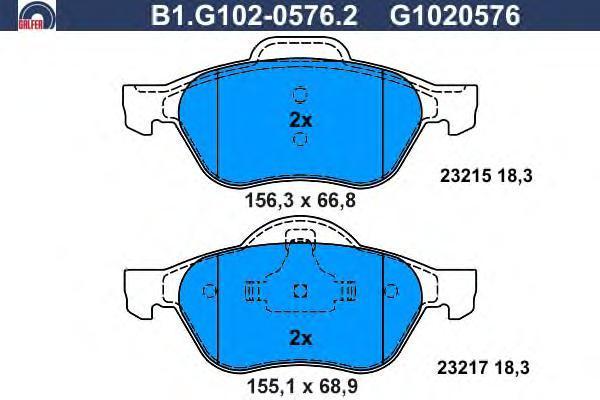 Колодки тормозные Galfer B1G10205762B1G10205762