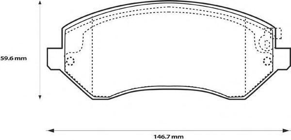 Колодки тормозные передние Jurid 573118J573118J