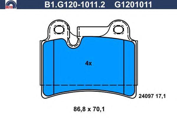 Колодки тормозные Galfer B1G12010112B1G12010112