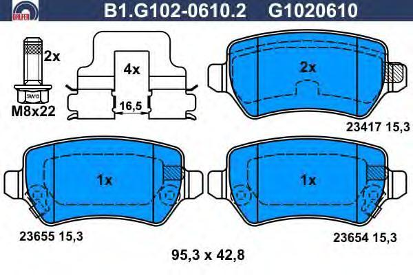 Колодки тормозные дисковые Galfer B1G10206102B1G10206102