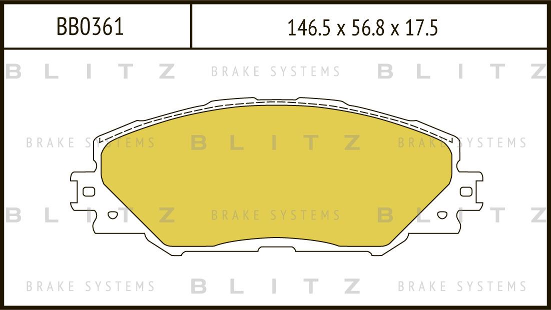 Колодки тормозные дисковые BLITZ автотовары BB0361BB0361
