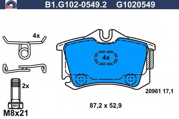Колодки тормозные дисковые Galfer B1G10205492B1G10205492