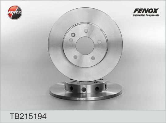 Диск тормозной Fenox TB215194TB215194