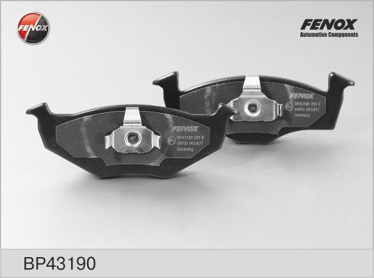 Колодки тормозные дисковые Fenox BP43190BP43190
