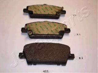 Колодки тормозные дисковые Japanparts PA403AFPA403AF