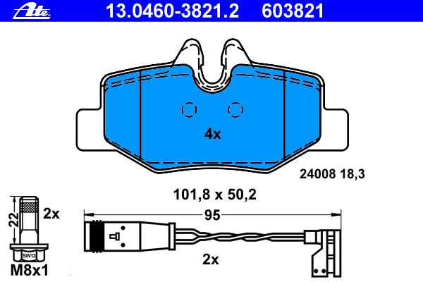 Колодки тормозные дисковые Ate 1304603821213046038212